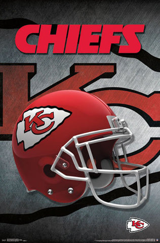 Kansas City Chiefs Official NFL Football Team Helmet Logo Poster - Trends International