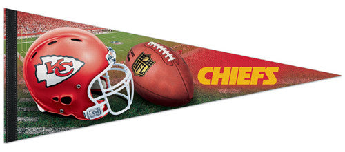 Kansas City Chiefs Official NFL Football Helmet-Style Premium Felt Pennant - Wincraft Inc.