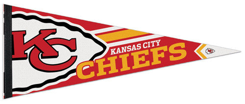 Kansas City Chiefs Official NFL Football Logo-Style Premium Felt Pennant - Wincraft Inc.