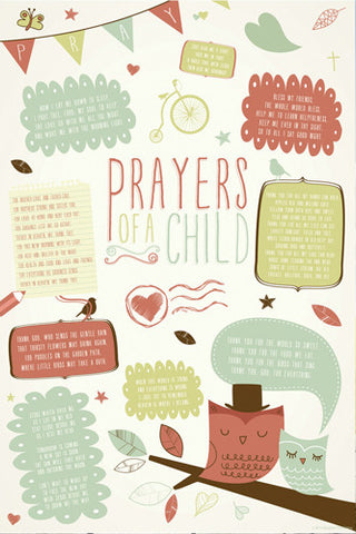 Prayers of a Child Christian Inspirational Poster - Slingshot Publishing