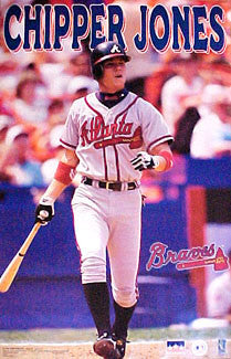 "Chipper Jones ""Blast"" Atlanta Braves Poster - Starline 1998"