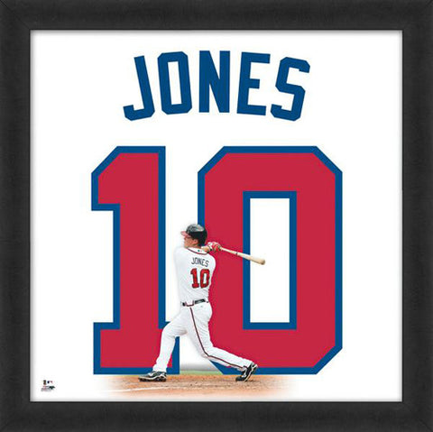 "Chipper Jones ""Number 10"" Atlanta Braves MLB FRAMED 20x20 UNIFRAME PRINT - Photofile"