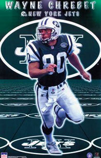 "Wayne Chrebet ""Matrix"" New York Jets NFL Action Poster - Starline 1999"