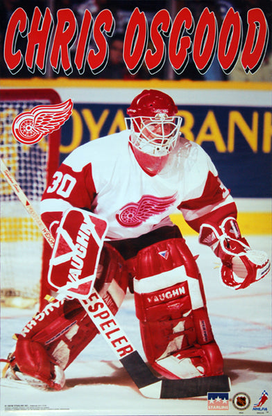 "Chris Osgood ""Superstar"" Detroit Red Wings NHL Goalie Poster - Starline 1997"