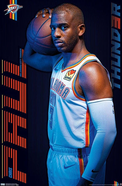 "Chris Paul ""Big-Time"" Oklahoma City Thunder NBA Basketball Official Team Logo Poster - Trends International"
