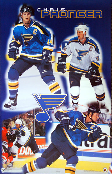 "Chris Pronger ""Blue"" St. Louis Blues NHL Hockey Poster - Norman James Corp. 1998"