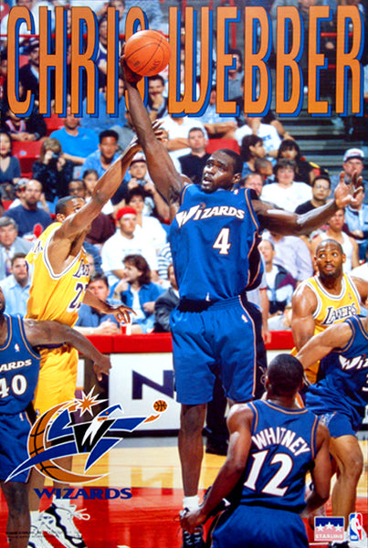 "Chris Webber ""Classic"" Washington Wizards NBA Action Poster - Starline Inc. 1998"