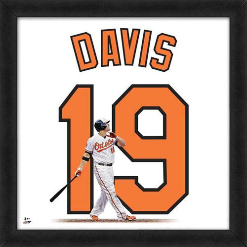 "Chris Davis ""Number 19"" Baltimore Orioles MLB FRAMED 20x20 UNIFRAME PRINT - Photofile"