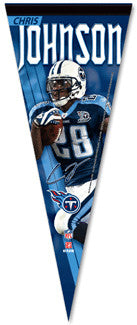 "Chris Johnson ""Signature"" Premium Felt Pennant L.E. /2,008"