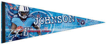 "Chris Johnson ""Signature Series"" Titans Premium Felt Collector's Pennant (2012) - Wincraft"