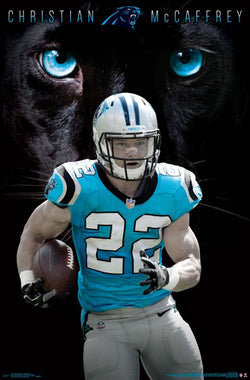 "Christian McCaffrey ""Superstar"" Carolina Panthers NFL Football Poster - Trends 2017"