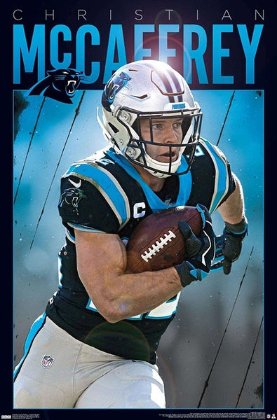 "Christian McCaffrey ""Intensity"" Carolina Panthers NFL Football Poster - Trends International"