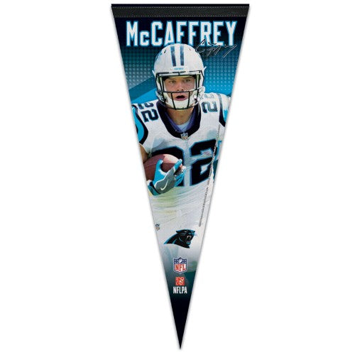 "Christian McCaffrey ""Signature Series"" Carolina Panthers Premium Felt Collector's Pennant - Wincraft"