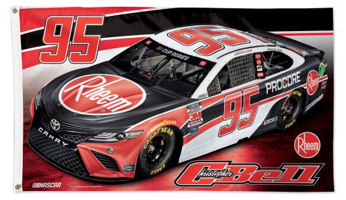 Christopher Bell Rheem Toyota #95 Official NASCAR Deluxe-Edition 3'x5' Banner Flag - Wincraft 2020