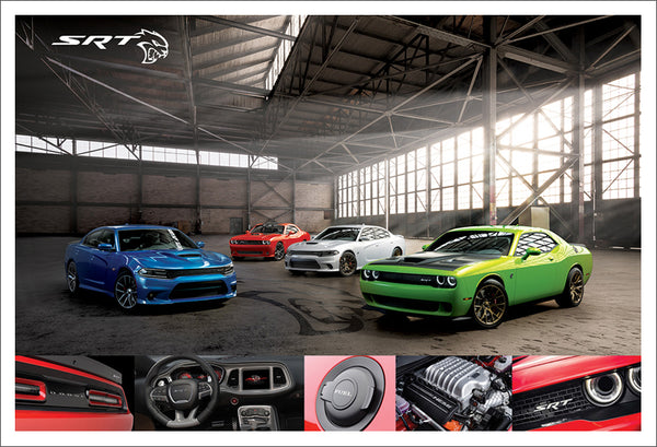 Dodge Challenger SRT Hellcat Official Chrysler Supercar Muscle Car Premium Poster Print - Eurographics
