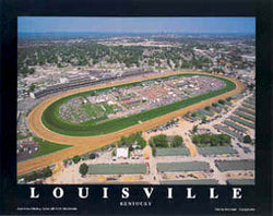 Churchill Downs, Louisville, Kentucky Derby Aerial View Poster Print