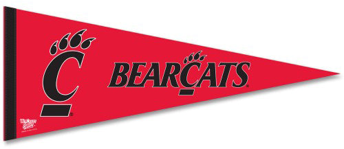 Cincinnati Bearcats Official NCAA Team Logo Premium Felt Collector's Pennant - Wincraft Inc.