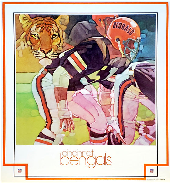 Cincinnati Bengals NFL Football Vintage Theme Art Poster (1979) - DAMAC Inc.