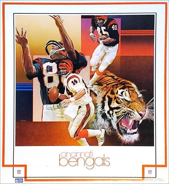 Cincinnati Bengals 1982 NFL Football Vintage Theme Art Poster (Chuck Ren) - DAMAC Inc.