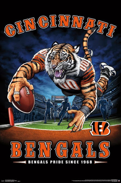 "Cincinnati Bengals ""Bengals Pride Since 1968"" NFL Theme Art Poster - Liquid Blue/Trends Int'l."