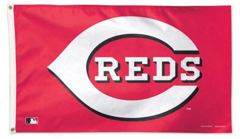 Cincinnati Reds Official MLB Baseball 3'x5' DELUXE-EDITION Team Banner Flag - Wincraft