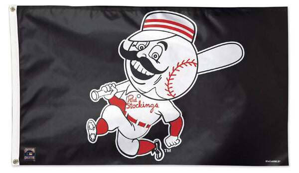 "Cincinnati Reds ""Running Mr. Red"" (1953-67) Cooperstown Collection MLB Baseball Deluxe-Edition 3'x5' Flag"