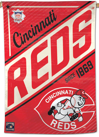 "Cincinnati Reds ""Since 1869"" MLB Cooperstown Collection Premium 28x40 Wall Banner - Wincraft Inc."