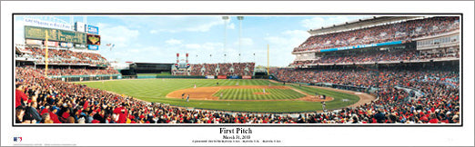 Cincinnati Reds Great American Ballpark First Pitch (2003) Panoramic Poster Print - Everlasting