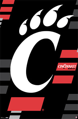 Cincinnati Bearcats Sports Official NCAA Team Logo Poster - Costacos Sports