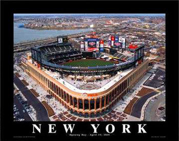 "New York Mets Citi Field ""From Above"" Poster Print - Aerial Views 2009"