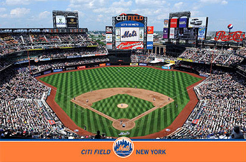 New York Mets Citi Field Gameday Poster - Costacos Sports