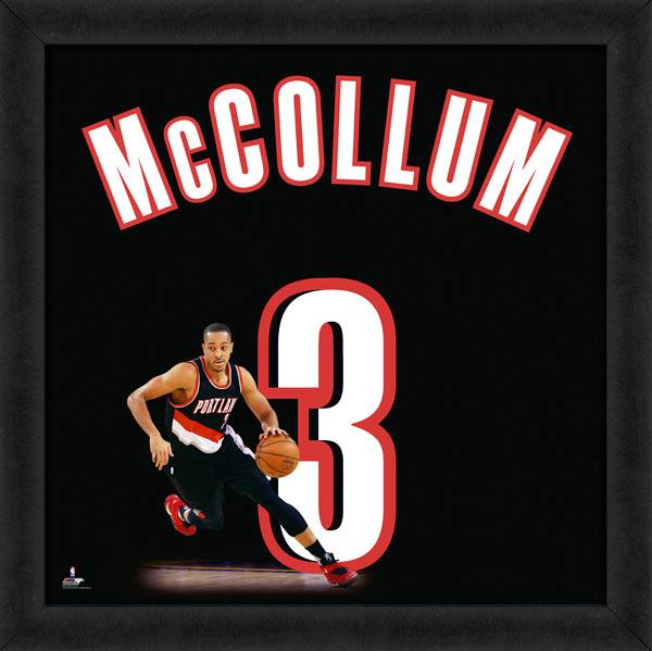"C.J. McCollum ""Number 3"" Portland Trail Blazers NBA FRAMED 20x20 UNIFRAME PRINT - Photofile"