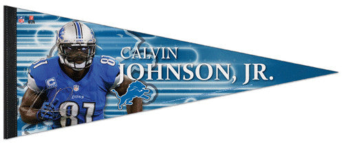 "Calvin Johnson Jr. ""Signature"" Detroit Lions Premium Felt Collector's Pennant - Wincraft"