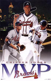 Chipper Jones 1999 National Legue MVP Atlanta Braves Poster - Costacos Sports