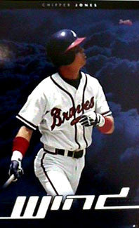 "Chipper Jones ""Wind"" Atlanta Braves Action Poster - Costacos 1999"
