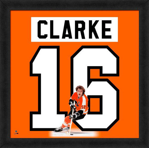 "Bobby Clarke ""Number 16"" Philadelphia Flyers FRAMED 20x20 UNIFRAME PRINT - Photofile"
