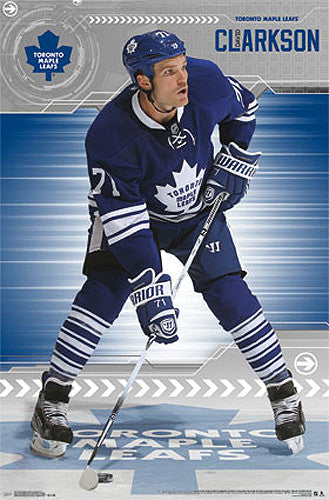 "David Clarkson ""Blue and White"" Toronto Maple Leafs NHL Action Poster - Costacos 2014"