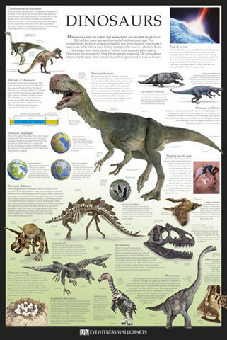 Dinosaurs Educational Poster - DK Eyewitness Wallcharts/Pyramid