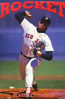 "Roger Clemens ""Rocket"" Boston Red Sox Poster - Costacos 1991"