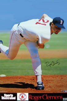 "Roger Clemens ""Signature Series"" Boston Red Sox Poster - Marketcom/SI 1991"