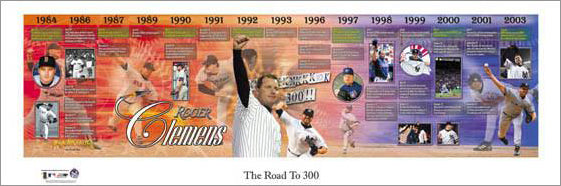 "Roger Clemens ""Road to 300 Wins"" Panoramic Poster Print - Photofile 2003"