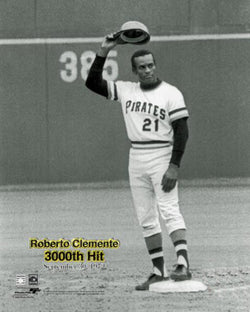"Roberto Clemente ""3000th Hit"" (1972) Pittsburgh Pirates Premium Poster Print - Photofile Inc."