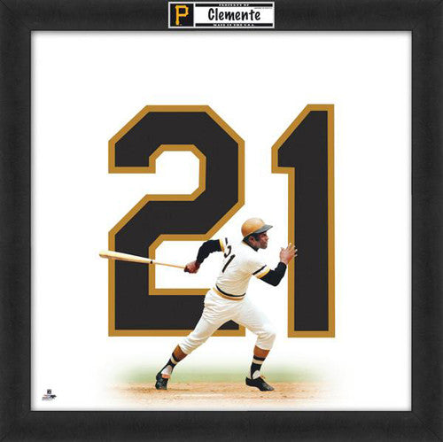 "Roberto Clemente ""Number 21"" Pittsburgh Pirates FRAMED 20x20 UNIFRAME PRINT - Photofile"