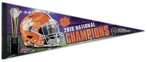 Clemson Tigers 2018 NCAA Football National Champions Premium Felt Collector's Pennant - Wincraft Inc.