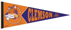 Clemson Tigers NCAA College Vault 1980s-Style Premium Felt Collector's Pennant - Wincraft Inc.