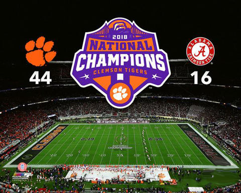 Clemson Tigers 2018 NCAA National Football Champions Premium Poster Print - Photofile 16x20