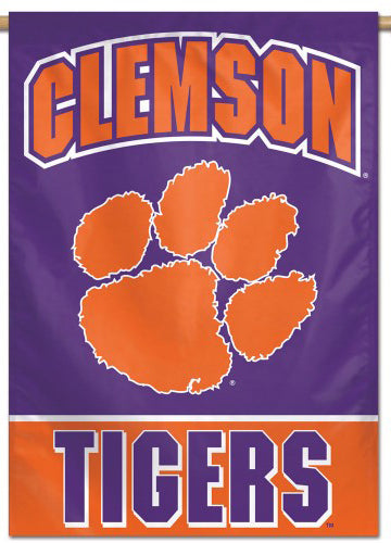 Clemson Tigers NCAA Team Logo Official NCAA Premium 28x40 Wall Banner - Wincraft Inc.