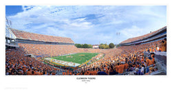 "Clemson Tigers Football ""Death Valley Gameday"" Memorial Stadium Panoramic Poster"