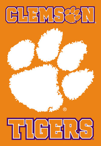 Clemson University Tigers Official NCAA 28x40 Premium Team Banner - BSI Products