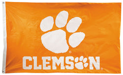 Clemson Tigers Official NCAA Premium Nylon Applique 3'x5' Flag - BSI Products Inc.